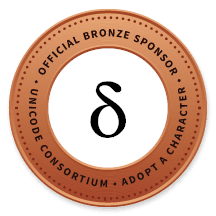 Official Bronze Sponsor of Unicode Consortium
