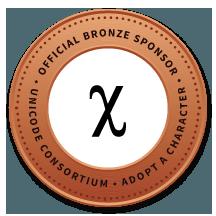 Official Bronze Sponsor of Unicode Consortium